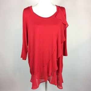 Lane Bryant Tiered Ruffle Top Plus Size 14/16 NEW